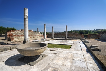 Ancient Roman palace Felix Romuliana near Zajecar, Serbia Stock Photo