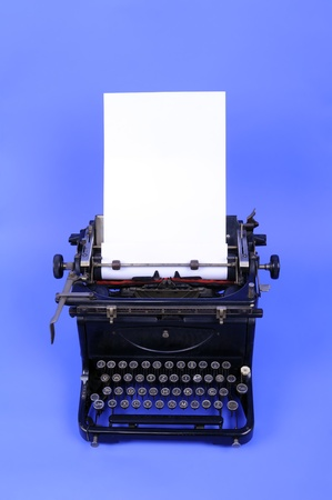 Vintage typewriter with loaded paper  Stock Photo - 9621357