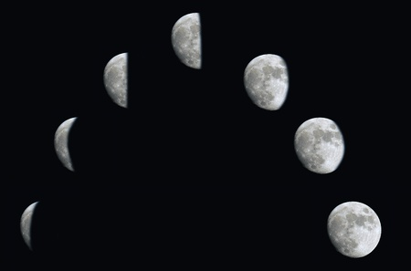 Changing phases of the Moon  photo