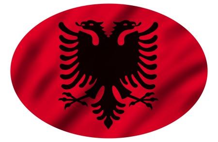 Flag of Albania, 3d illustration illustration