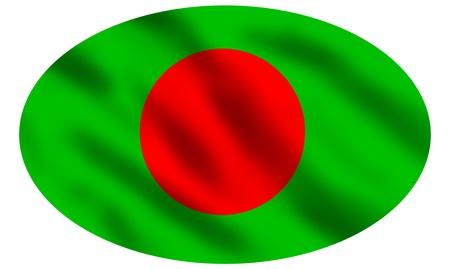 bangladesh 3d: Flag of Bangladesh waving, 3d illustration Stock Photo
