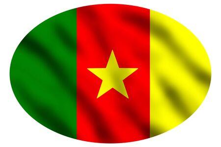 cameroon: Waving flag of Cameroon, 3d illustration