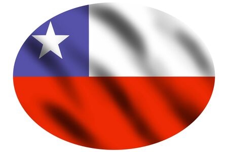 Flag of Chile waving on the wind, 3d illustration illustration