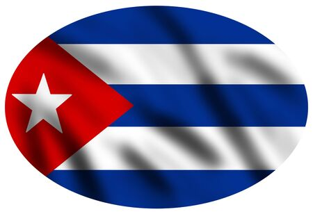 Flag of Cuba, 3d illustration illustration