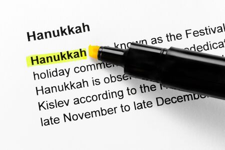 Hanukkah text highlighted in yellow, under the same heading photo