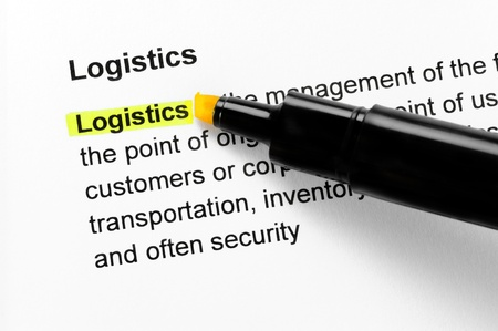 Logistics text highlighted in yellow, under the same heading Stock Photo - 10285064