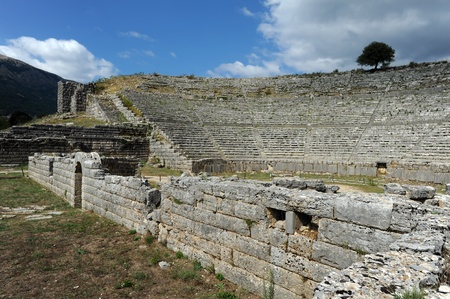 Theater in Dodona, first oracle site in ancient Greece photo