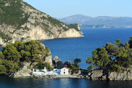 old church: Panagia island with old church in Parga, Greece