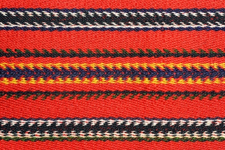 ethnography: Hand woven kilim pattern, patchwork from Balkan`s Stock Photo