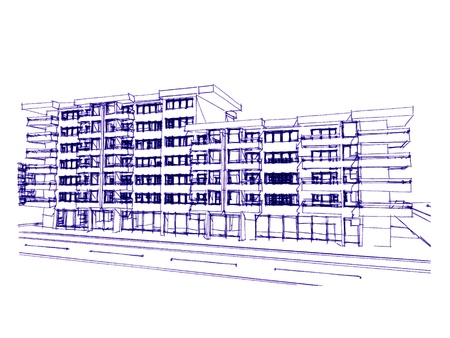 more similar images: Sketch idea, drawing of skyscraper, more renders and similar images in portfolio Stock Photo