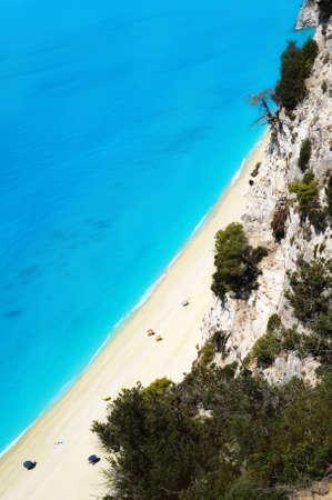 ionio: Aerial view of Egremni beach at Lefkada, Greece