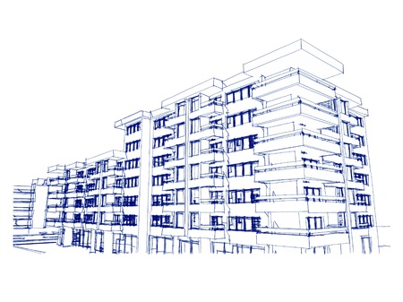 more similar images: Sketch idea, drawing of modern residential building, more renders and similar images in portfolio