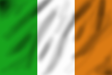 Flag of Ireland, 3d illustration illustration