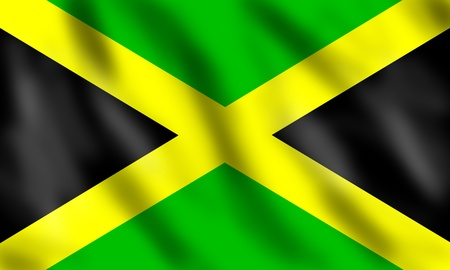 Flag of Jamaica, 3d illustration Stock Illustration - 13077117
