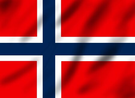Flag of Norway, 3d illustration illustration