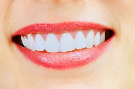 smile close up: Healthy woman teeth and smile  Close up