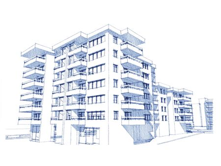 more similar images: Sketch idea, drawing of residential building , more renders and similar images in portfolio