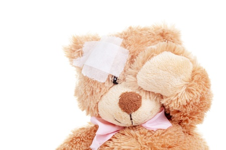 Suffering Injured Sweet Teddy Bear  photo