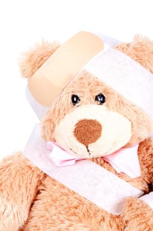 Suffering Injured Sweet Teddy Bear photo