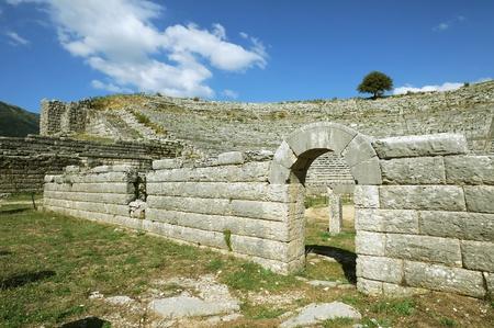 antica grecia: Theater a Dodona, primo sito oracolo nella Grecia antica Archivio Fotografico