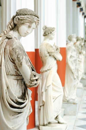 sissy: Column of Muses in Achillion palace, Corfu, Greece
