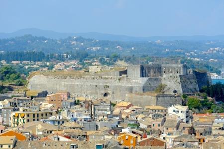 City of Kerkyra, aerial view, Corfu island, Greece photo