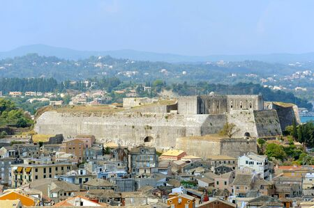 kerkyra: City of Kerkyra, aerial view with fortress, Corfu island, Greece