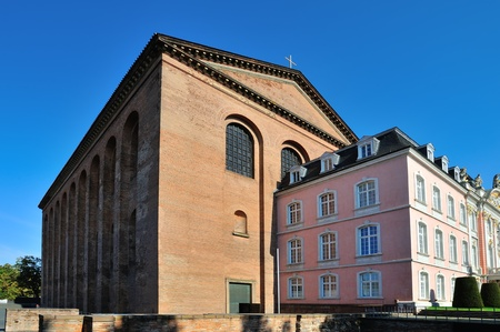 basillica: South wing of Prince-electors Palace and Roman basillica in Trier, Germany