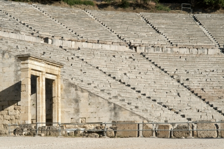 teatro antico: Antico teatro di Epidauro, in Grecia Archivio Fotografico