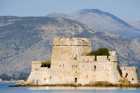 bourtzi: Old Venetian fortress Bourtzi in Nafplio, Greece