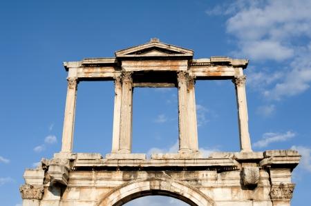 hadrian: Arco de Adriano en Atenas, Grecia.