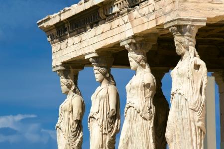 ギリシャのアテネのアクロポリス カリアテッド 写真素材