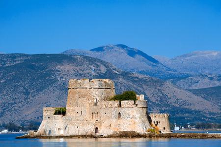 bourtzi: Bourtzi, old Venetian castle near city of Nafplio, Greece Editorial