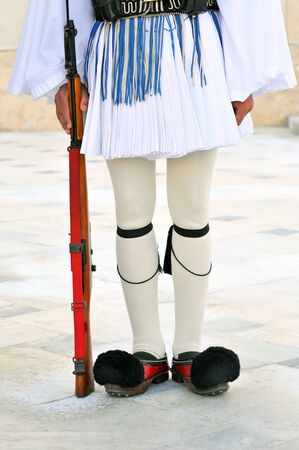 The greek presidential guards uniform  foustanella  photo
