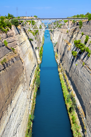 the deepest: Corinth canal, Greece  Deepest, oldest and longest hand made canal