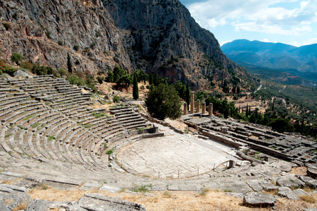 Ancient site of Delphi, Greece photo