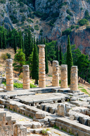 delfi: Ancient site of Delphi, Greece