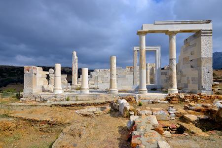 Temple of Demeter, Naxos island, Greece Stock Photo