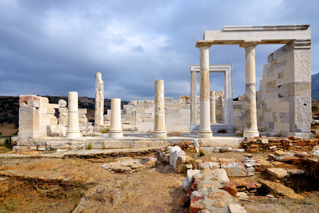 naxos: Demeter, ancient temple, Naxos island in Greece