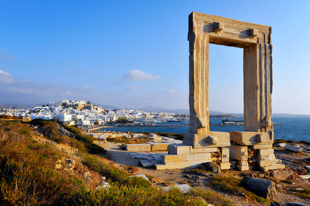 lintel: Portara gate, Naxos island, Greece