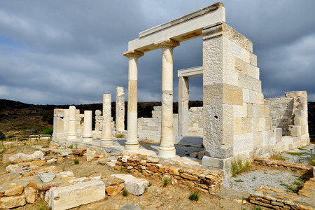 kyklades: Demeter temple at Naxos island in Greece