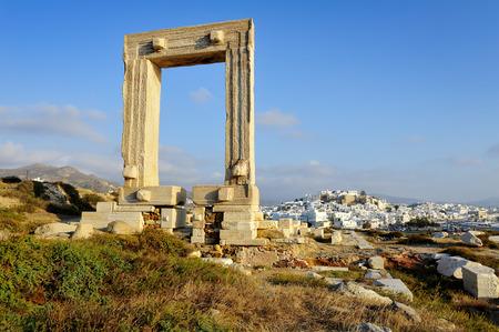 kyklades: Portata gate, Naxos island in Greece