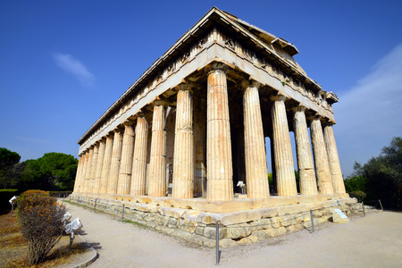 Hephaestus temple, the most preserbed temple of ancient Greece, Agora in Athens photo