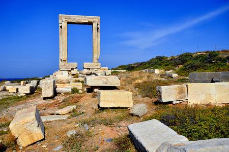 naxos: Portata gate, Naxos island in Greece