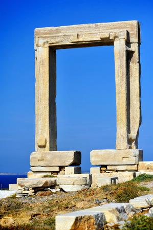 lintel: Portata gate, Naxos island in Greece