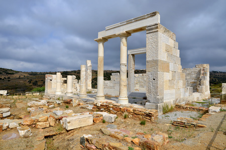 kyklades: Demeter temple at Naxos island, Kyklades, Greece
