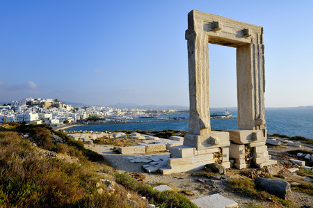Greece: Portara of Naxos, Kyklades in Greece