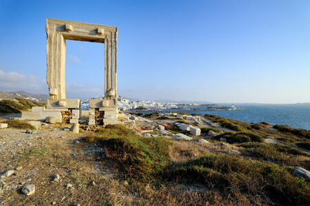 naxos: Portara of Naxos, Kyklades in Greece