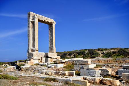 kyklades: Portara of Naxos, Kyklades in Greece