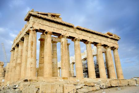 acropolis: Parthenon on the Acropolis in Athens Greece